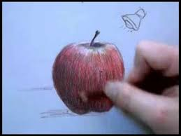 colored pencil drawing of an apple part 2 youtube