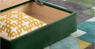 wolseley storage ottoman forrest green made com