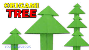 paper tree origami easy paper folding instructions step by step