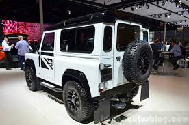 land rover white black rims land rover defender black pack paris 2014 live