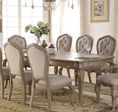Acme Dining Room Furniture Acme Furniture Chelmsford Antique Taupe Dining Table Two Leaves