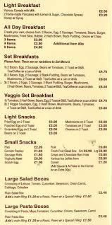 restaurants with light menus menu at tasty tucker 220 hornchurch rd restaurant prices