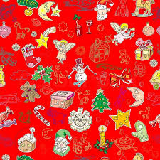 christmas pattern red green christmas pattern with toys and season greetings icons on a green