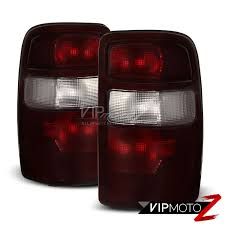 2006 silverado tail light assembly dark red 2000 2006 tahoe yukon suburban rear brake tail lights