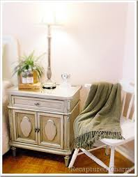How To Spray Metallic Paint - recaptured charm night stands in metallic of course