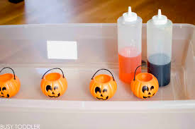 pumpkin fizz halloween science activity busy toddler