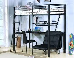 loft bed with futon and desk white loft bed from notice how desk
