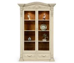 French Provincial Armoire French Provincial Dusty White Glazed China Cabinet