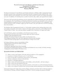 ministry resume resume templates youth leader resume
