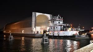 rolling on a river nasa u0027s barge pegasus returns to michoud nasa