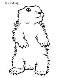 Groundhog Coloring Page Animals Town Animals Color Sheet Groundhog Color Page