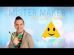 mister maker postcard maker with triangle