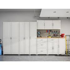 kitchen storage cabinets lowes ameriwood home kendall 35 68 in w x 74 31 in h x 15 37 in d composite wood freestanding garage cabinet