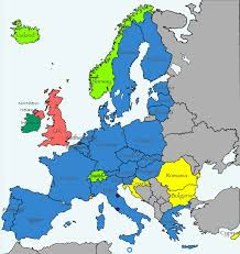 atlas map of europe europe map and the eurozone schengen area with links to european