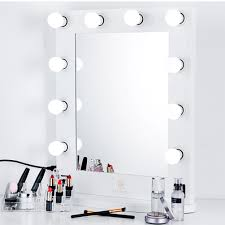 Tabletop Vanity Mirror With Lights Large Hollywood Makeup Mirror Tabletop Vanity Lighted Dimmable 12