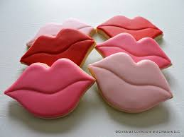 Valentine S Day Decorated Sugar Cookies by Lips Hand Decorated Sugar Cookies For Valentine U0027s Day Or