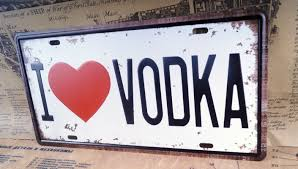 i love vodka car plate decor for truck tin metal signs bar pub