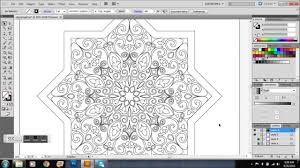 star shaped islamic pattern time lapse youtube