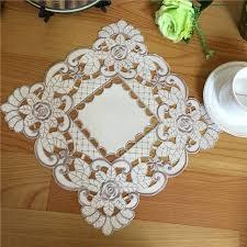 napperon de cuisine 27 cm nouveau satin place table tapis tissu tapis de dentelle
