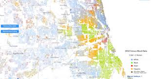 Los Angeles Crime Map by Incredibly Detailed Map Shows Race Segregation Across America In