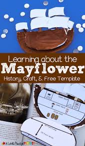 inside the mayflower paper plate craft and free template can