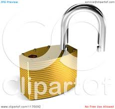 clipart of a 3d open unlocked padlock royalty free cgi