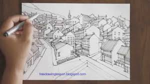 draw a town in perspective must see youtube