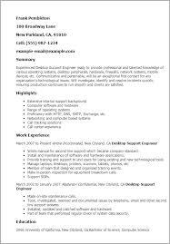 desktop support technician resume sample resume sample