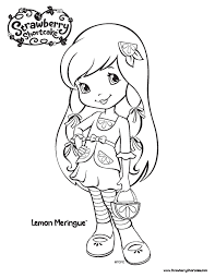strawberry shortcake printable coloring pages strawberry
