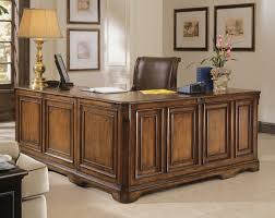 l shaped desk with hutch left return hooker furniture home office brookhaven executive l right return