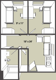 typical house layout on campus apartments campus living college of arts and