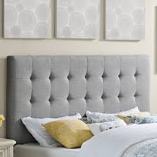 Gray Linen Headboard with Upholstered Headboards Can Add So Much Softness And Texture To A