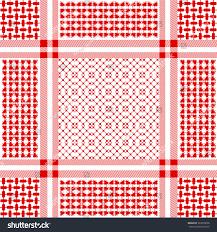 ornamental keffiyeh vector pattern geometric print stock vector