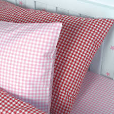 Cot Duvet Covers Red Gingham Cot Bed Duvet Cover Sweetgalas
