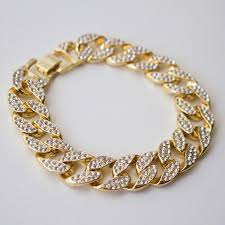 cuban gold bracelet images Iced out cuban bracelet gold white gold thegiftedfew jpg