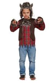 Wolf Costume Childs Werewolf Costume Halloween Grim Spooky Fancy Dress Scary