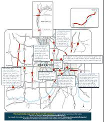 Mn Dot Traffic Map Clogged Artery I 35w Closure Tops Twin Cities Weekend Road Woes