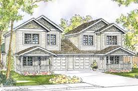 Duplex Plan by Craftsman House Plans Cartersville 60 017 Associated Designs