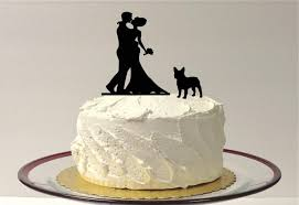 wedding cake toppers and groom with pet dog wedding cake topper silhouette wedding cake topper