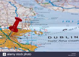 Dublin Ireland Map Map Pin Pointing Dublin Ireland Stockfotos U0026 Map Pin Pointing