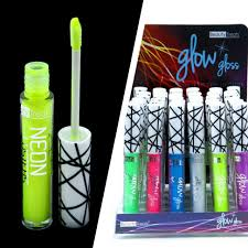 and glow neon lip gloss and glow in the in color