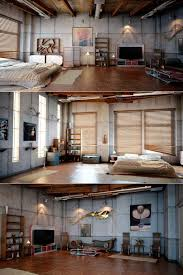 Bedroom Loft Design Interior Magnificent Industrial Bedroom Loft Design With Grey