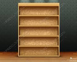 Wooden Bookshelf Empty Wooden Bookshelf Design Psd Download Premium Psd
