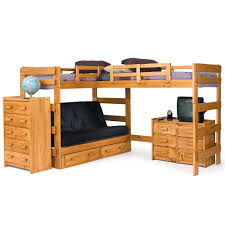 Make L Shaped Bunk Beds Woodcrest Heartland Br Casual Style L Shaped Loft Bed With Built