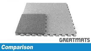 comparing modular carpet tiles foam vs plastic based carpet