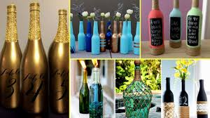🍼30 Beautiful Wine Bottle Decorating Ideas – DIY Recycled Room
