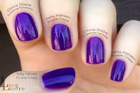 sally hansen purple craze comparison vs china glaze creative