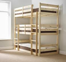 Tri Bunk Beds Uk 3ft Single 3 Tier Heavy Duty Solid Pine High Sleeper Bunk Bed