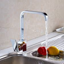 solid brass kitchen faucet free shipping luxury square solid brass kitchen sink faucet with