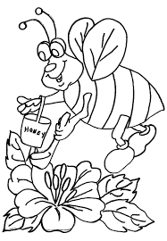 bee coloring pages coloring pages for kids